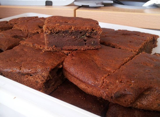 Shirley's Courgette Chocolate Brownies