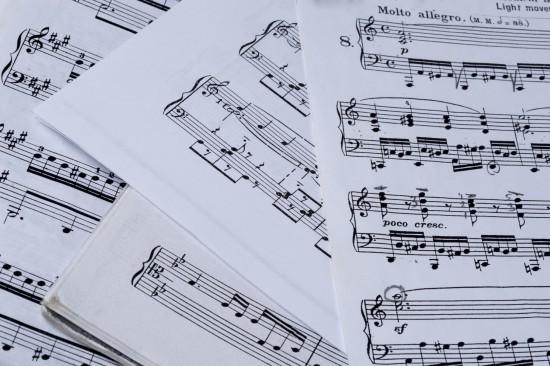 Hymn sheet music