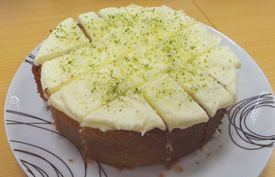 Moira's Lime Drizzle Cake With Coconut Butter Cream