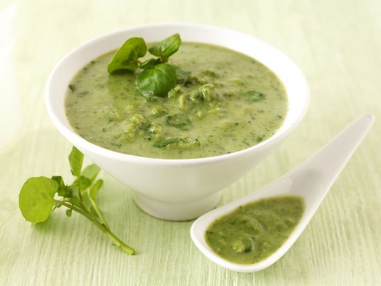 Fresh Pea And Watercress Soup (d)