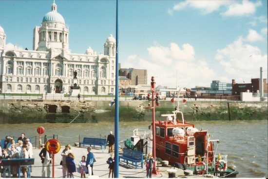 Just about to set off from Pier Head on the Mersey Ferry.