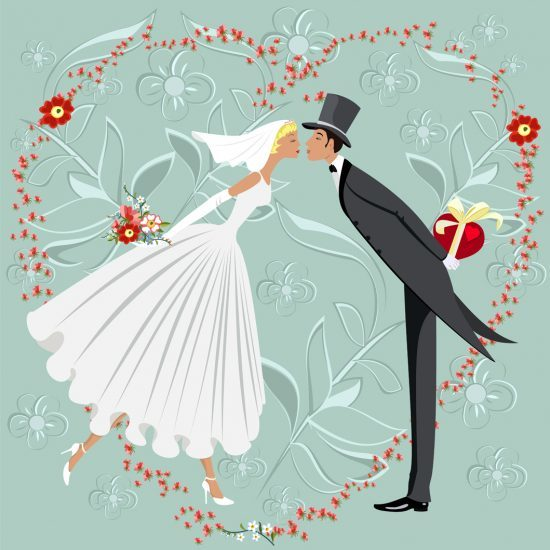 """You may kiss the bride...."" The dilemma of writing your own vows is in this week's story selection."
