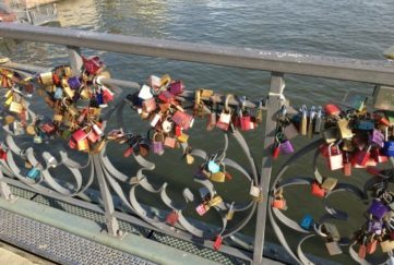 This bridge of padlocks happens to be in Frankfurt.