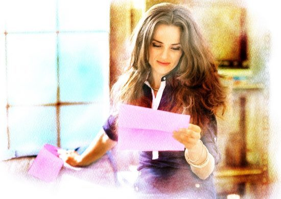 Carrie reads a letter from her younger self.