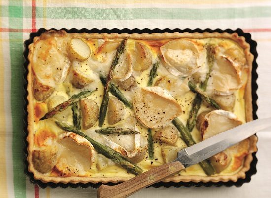 Jersey Royals, Asparagus and Goat Cheese Flan_sml