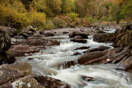 Bracklinn Falls, near Callander in the Trossachs, Scotland.