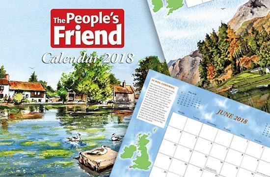 People's friend Calendar 2018 Header