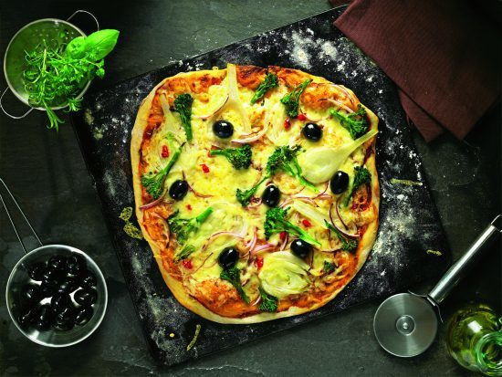 Pilgrims Choice Mature Cheddar and Vegetable Pizza