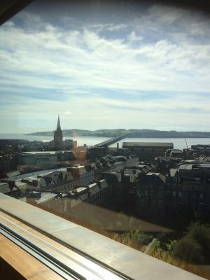 Dundee city centre, towards Tay Road Bridge. Vista room