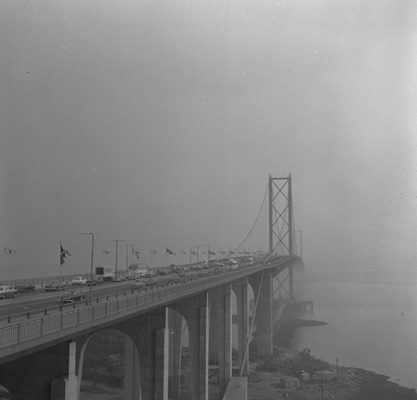 The opening of the Forth Road Bridge, 1964