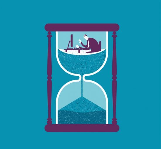 Vector illustration - Control your time