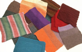 knitting square blankets