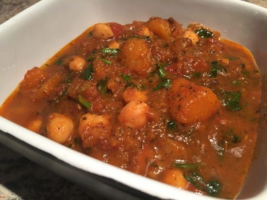 butternut squash, chickpea and aubergine curry