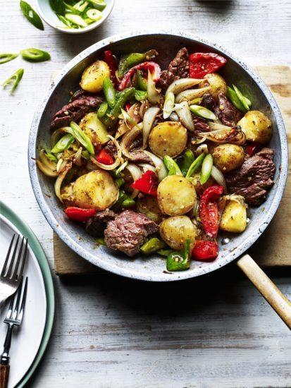 chinese pepper steak stir-fry