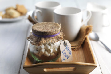 hot chocolate gift jar
