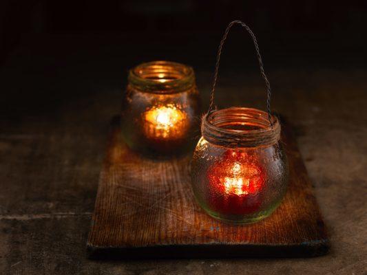 tealight jam jar