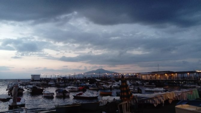 Vesuvius by night from Marina Grande