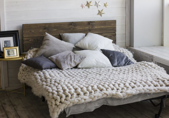 giant knitted blanket