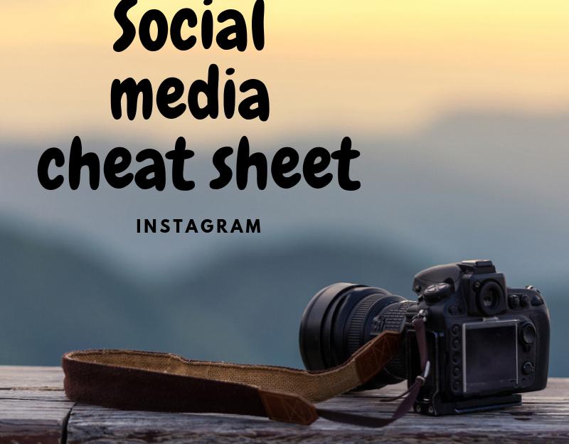 social media cheat sheet