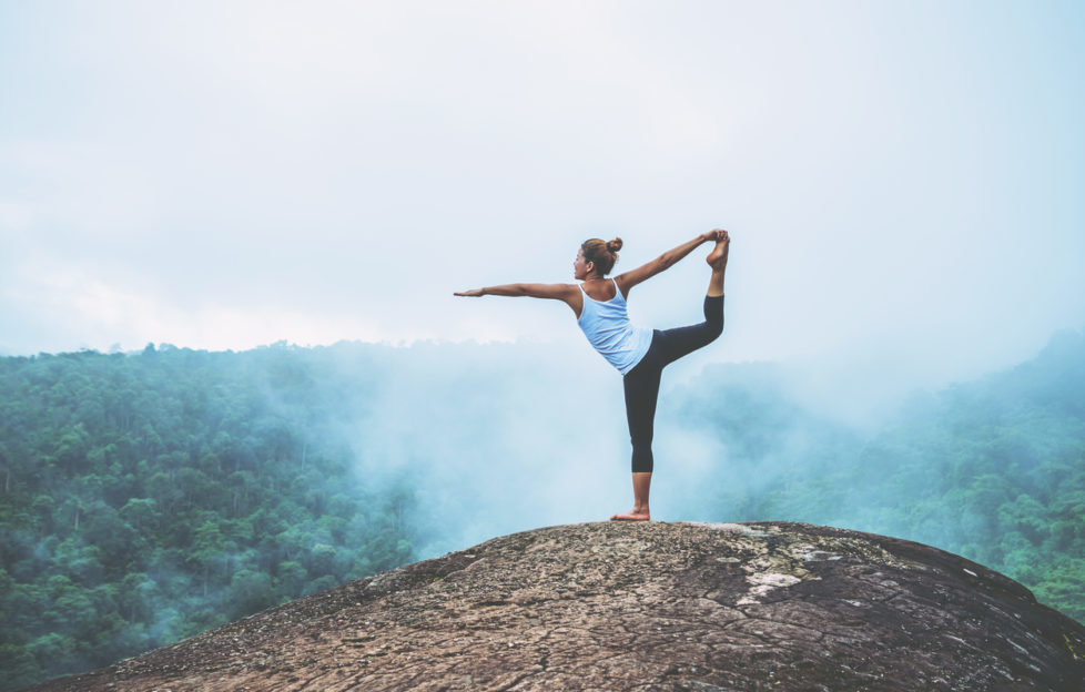 yoga on mountains