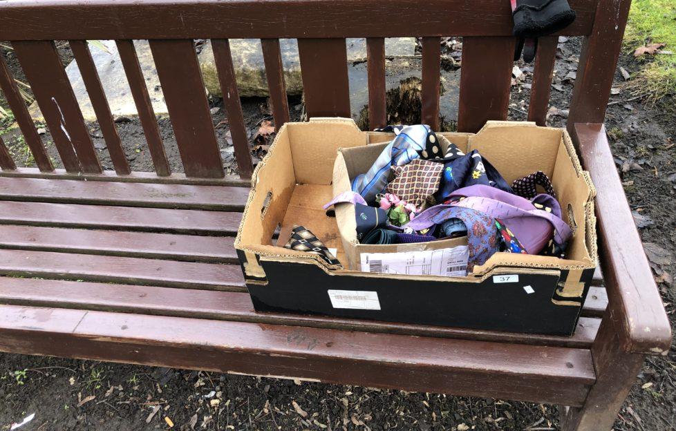 Box of mixed ties