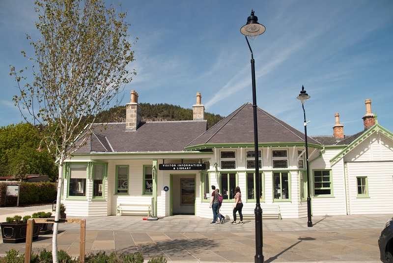 The restored old station.